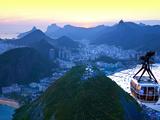 Cable Car to Sugar Loaf Mountain  Rio De Janiero  Brazil