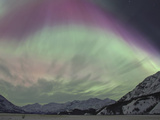 Aurora Borealis  Wrangell Mountains  Alaska  USA
