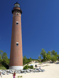 The Little Sable Point Light on Lake Michigan in Golden Township  Michigan  USA