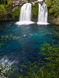Waterfalls at Ojos Del Caburga  Araucania Region  Chile
