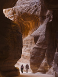 Tourists in Al-Siq  Petra  Jordan