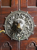 Lion's Head Door Knocker on the Saint Peter Church (Sankt Petrikirche) Entryway  Hamburg  Germany