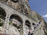 Steep Stairway to Sumela Monastery  Trabzon  Turkey
