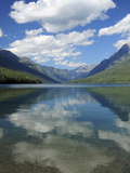 Bowman Lake in the Late Afternoon: Glacier National Park  Montana  USA