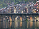 Traditional Houses and Bridge on Wuyang River  Zhenyuan  Guizhou  China