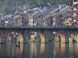Traditional Houses and Bridge on Wuyang River  Zhenyuan  Guizhou  China