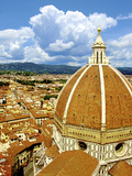High Angle View of a Cathedral  Duomo Santa Maria Del Fiore  Florence  Tuscany  Italy