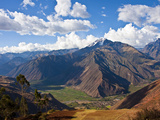 A View of the Sacred Valley and Andes Mountains of Peru  South America