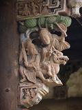 Details of Wood Carving on Traditional House  Pantan  Xianju County  Zhejiang Province  China