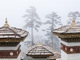 Chortens  Dochu La  Bhutan