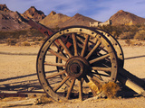 Old Farm Equipment  Ghost Town  Rhyolite  Nevada  USA