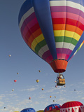 Mass Ascension at the Albuquerque Hot Air Balloon Fiesta  New Mexico  USA