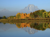 Grand Tetons in Autumn from the Oxbow  Grand Teton National Park  Wyoming  USA