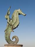 Caballeo Del Mar (The Seahorse) Sculpture on the Malecon  Puerto Vallarta  Mexico