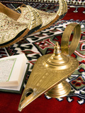 Lamp of Aladdin  Arabic Shoes  Holy Quran on a Carpet  Egypt