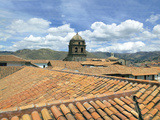 Rooftops and Cusco Cathedral  Cusco  Peru