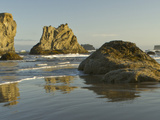 Sea Stacks on the Beach at Bandon  Oregon  USA
