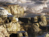 Terraces  Mammoth Hot Springs  Yellowstone National Park  Wyoming  USA