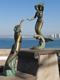 Triton and Nereida Sculpture on the Malecon  Puerto Vallarta  Mexico