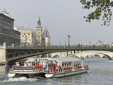A Bateaux Cruises on the Seine River  Paris  France