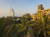 Modern Burj Al Arab Hotel and Traditional Wind House  Dubai  United Arab Emirates