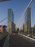Zubizuri Bridge  Bilbao  Spain