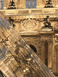 Reflection in the Pyramide Du Louvre  Paris  France