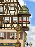 Cross Timbered Houses  Rothenburg Ob Der Tauber  Germany