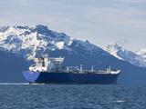 Empty Oil Tanker  Prince William Sound  Alaska  USA