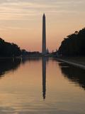 The Reflecting Pool on the National Mall  Washington DC  USA  District of Columbia