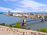 Parliament Building and Danube River  Budapest  Hungary