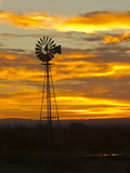 Sunrise with Windmill  Cimarron  New Mexico  USA