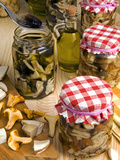 Mushrooms in Jar Preserved in Olive Oil  Italy