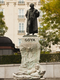 Francisco Goya Statue  Museo Del Prado  Madrid  Spain