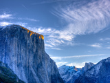 Sun Rises  First Light on Top of El Capitan  Yosemite  California  USA