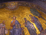Detail of Apse Mosaic with Portraits of Popes  Basilica Di San Paolo Fuori Le Mura  Rome  Italy