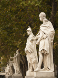 Statues of Spanish Kings  Royal Palace  Madrid  Spain