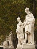 Statues of Spanish Kings  Royal Palace  Madrid  Spain