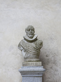 Bust of Spanish King Philip Iii  the Alcazar  Segovia  Spain