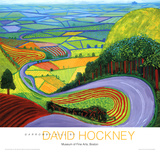Colline de Garrowby Reproduction d'art par David Hockney