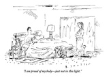 """I am proud of my body—just not in this light"" - New Yorker Cartoon"