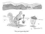 """First  you're gonna dig a hole"" - New Yorker Cartoon"