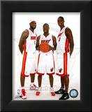 Dwyane Wade  LeBron James  &amp;Chris Bosh 2010 Posed