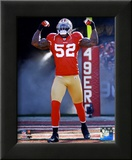 Patrick Willis NFC Divisional Playoff Game Action