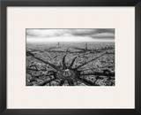 Paris  l'Etoile Vue du Ciel