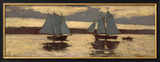 Gloucester  Mackerel Fleet at Sunset  c1884
