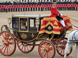 Hm Queen  Trooping Colour 2012  Queen&#39;s Birthday Parade  Whitehall  Horse Guards  London  England