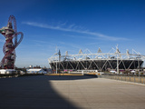 The Olympic Stadium with the Arcelor Mittal Orbit Viewed from Stratford Way  London  England  UK