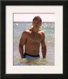 Daniel Craig In Water  James Bond  Movie Photo Print Poster