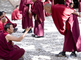 Tibetan Buddhist Monks Debating in Sera Monastery in Lhasa  Tibet  China  Asia
